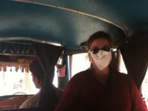 Rishikesh with mask